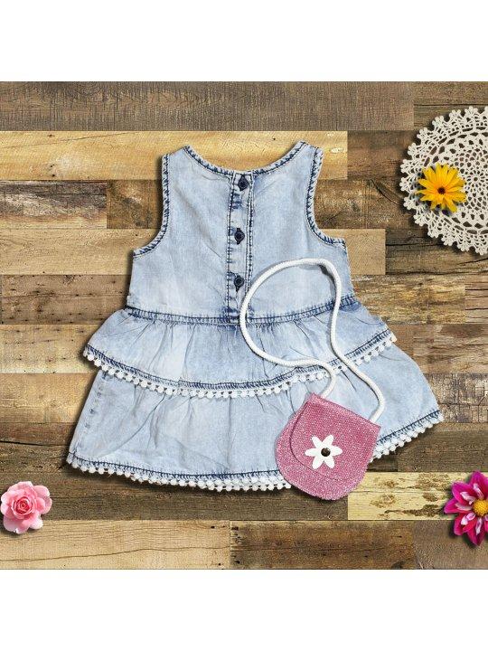 Детска рокля с чантичка
